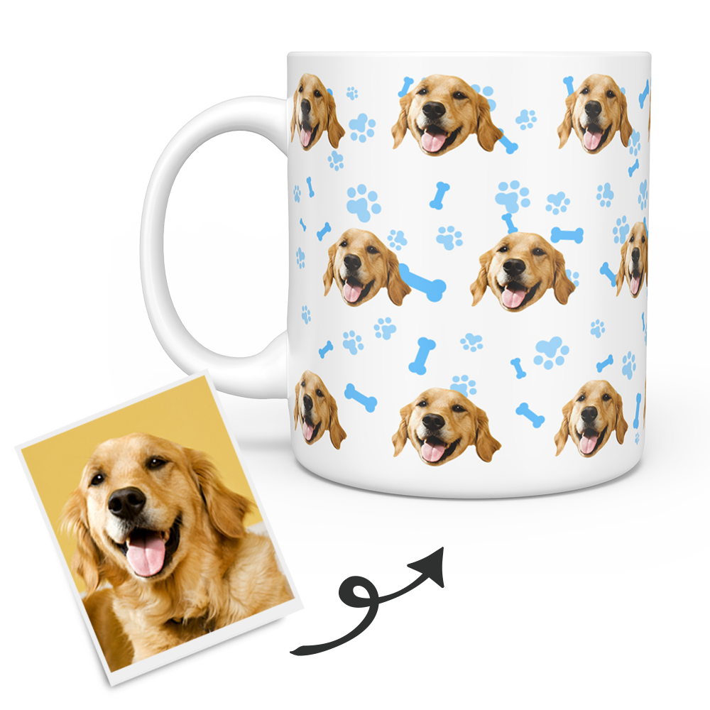Personalized Mug With Dog Photo - Pet Photo Mugs - Personalized Dog Mugs
