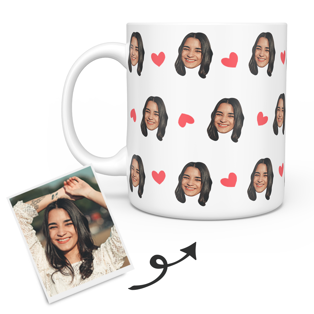 Personalized Custom Photo Mug – Any Face (Person, Puppy or Kitty)