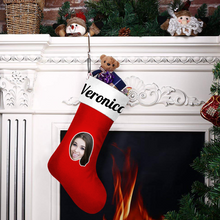 Custom Face Christmas Stocking With Text