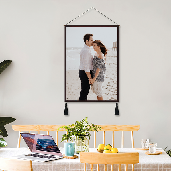 Custom Couple Photo Wall Tapestry Personalized Wall Hanging
