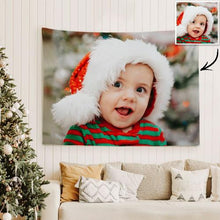 Baby Photo Tapestry Custom Photo Wall Art Home Decor Hanging Painting