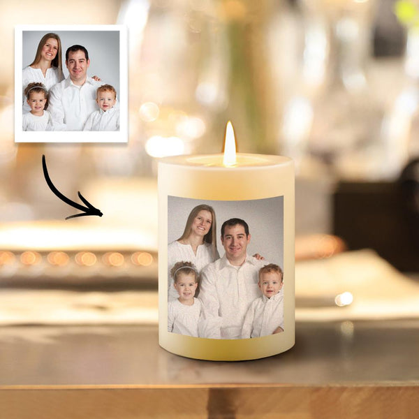 Personalized Photo Candle Home Decoration Family Gifts