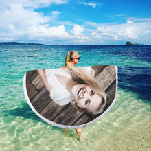 Custom Round Beach Towel Tassel Beach Mat for Girlfriend