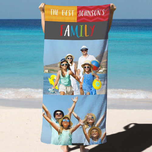 Personalized Bath towels Beach TowelMonogrammed Towels Custom Printed Towels for Family