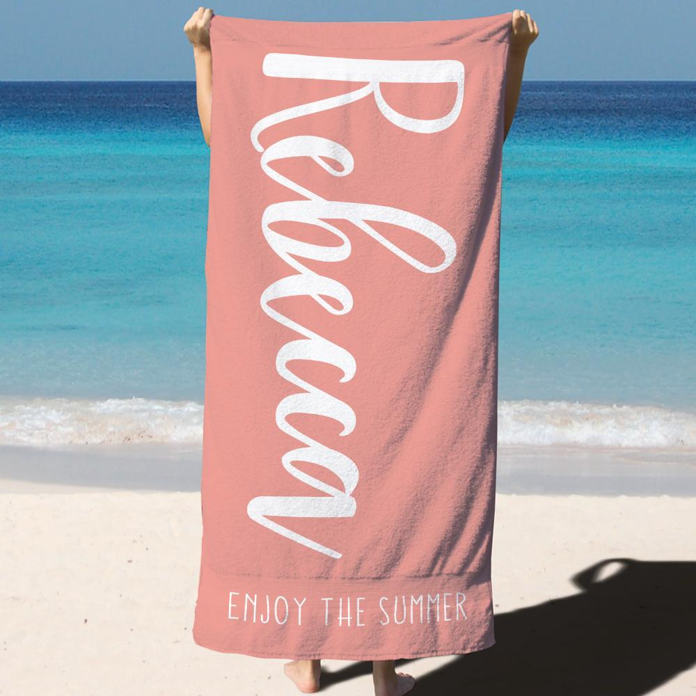 Hooded Bath Towel Beach Towel Custom Bath Towels with Name Sea World