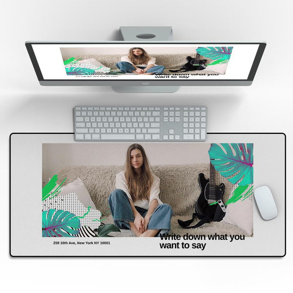 Custom Photo Mouse Pad Love Yourself 40*90cm