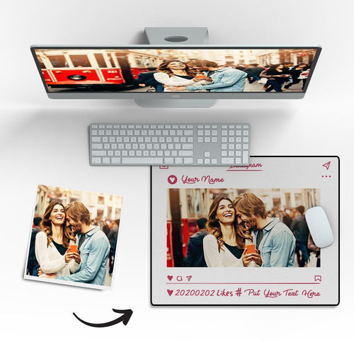 Custom Photo Mouse Pad Lovers' Souvenirs 18*22cm
