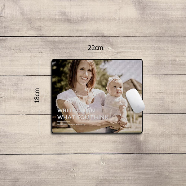 Custom Photo Mouse Pad Family Gifts 18*22cm