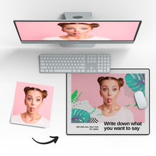 Custom Photo Mouse Pad Love Yourself 18*22cm