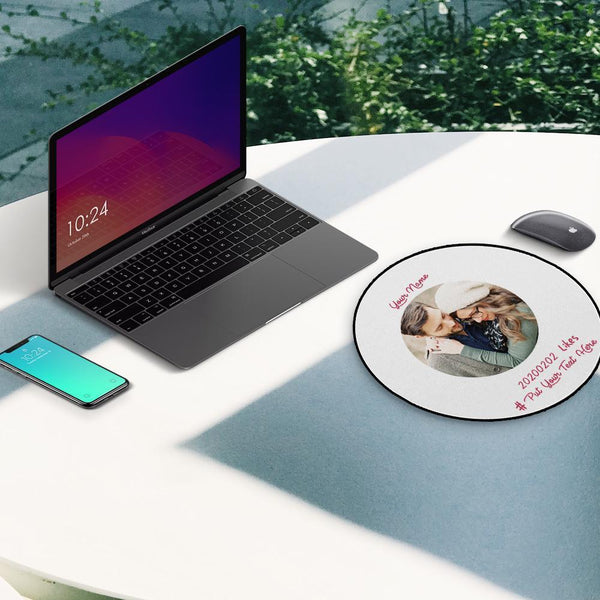 Custom Photo Round Mouse Pad Lovers' Souvenirs 20*20cm