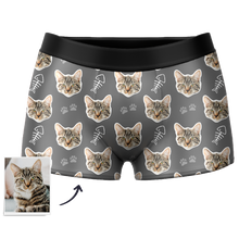 Custom Cat Boxer Shorts - Santa Socks