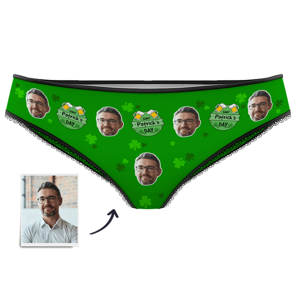 Women's Custom Face Panties - Lucky St.Patrick's Day