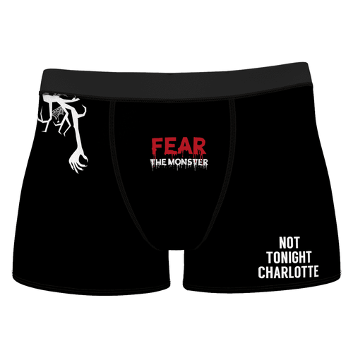 Custom Halloween Fear the Monster Boxer Shorts