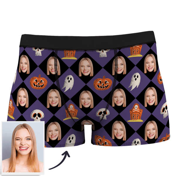Custom Girlfriend Face Halloween Boxer Shorts