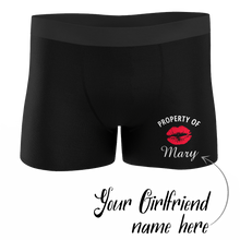 Custom Property of Yours Boxer Shorts for Boyfriend & Husband - Kiss