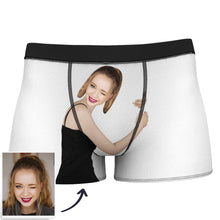 Custom Love Hug Boxer Shorts - Light Skin