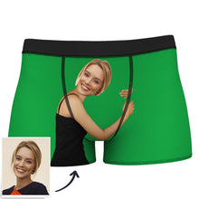 Face Boxer Custom Girlfriend Hugs Boxer Shorts - Brown Skin