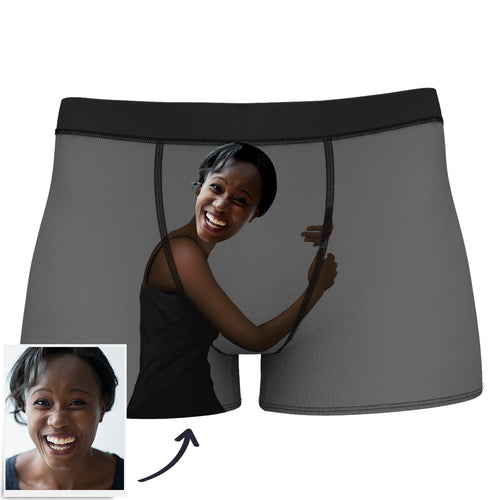 Custom Happiness Hug Boxer Shorts - Dark Skin