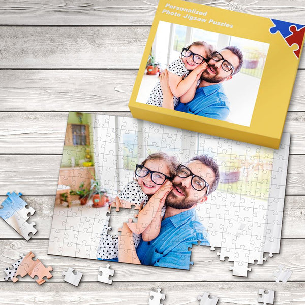Custom Photo Jigsaw Puzzle Best Gifts For Father 35-1000 Pieces