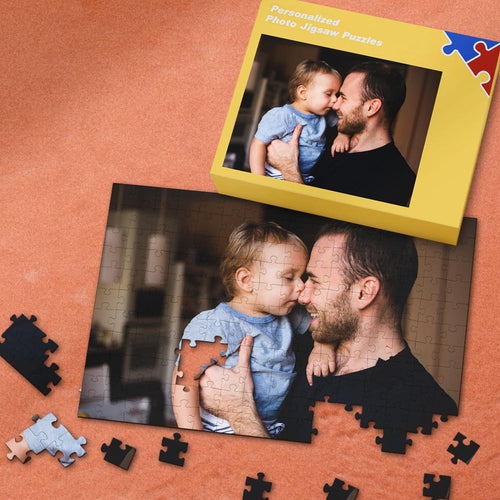 Custom Photo Jigsaw Puzzle Best Gift for Dad 35-1000 Pieces