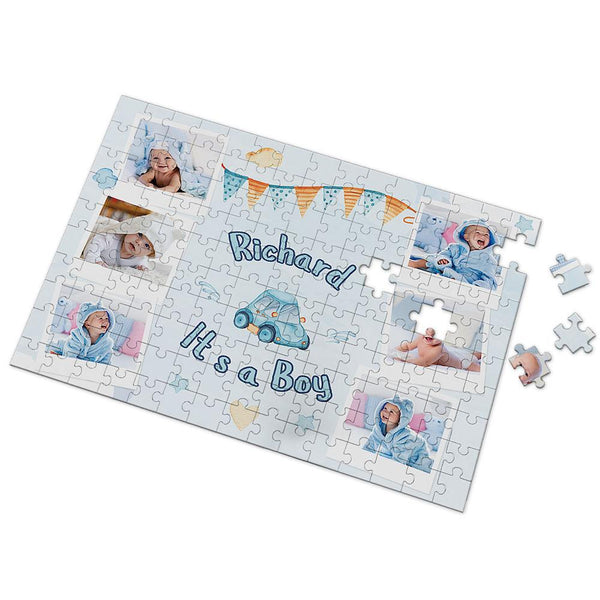 Record Your Baby's Growth Custom Photo Puzzle 35-500 Pieces