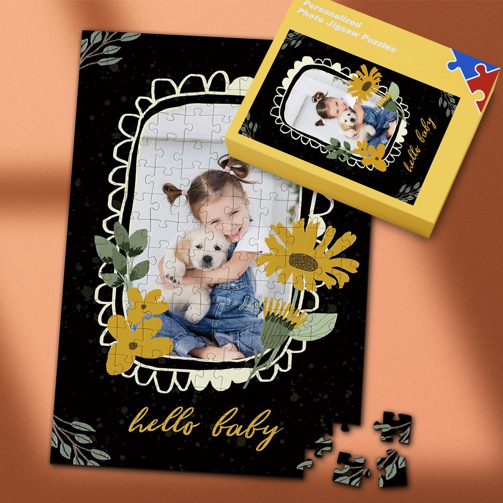 Custom Hello Baby Photo Puzzle 35-500 Pieces