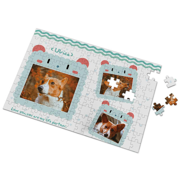 Dogs Are Our Life Partner Custom Photo Puzzle 35-500 Pieces