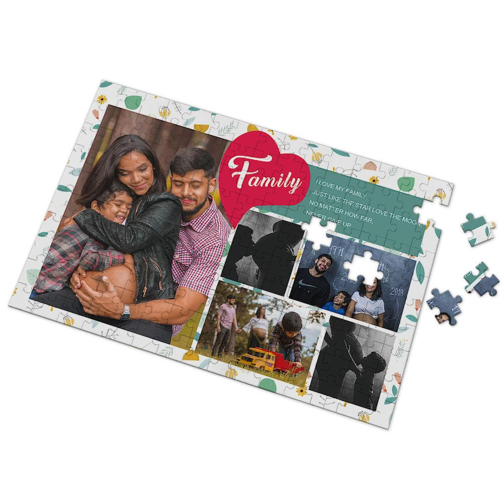 Custom I Love My Family Photo Puzzle 35-500 Pieces