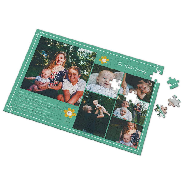 Custom Warm Family Photo Puzzle 35-500 Pieces