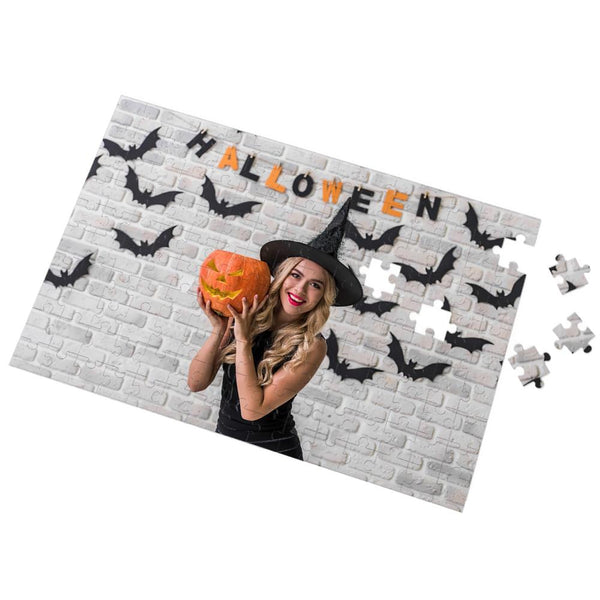 Halloween Gifts Custom Photo Puzzle Create your own Puzzle 35-1000 Pieces The Witch