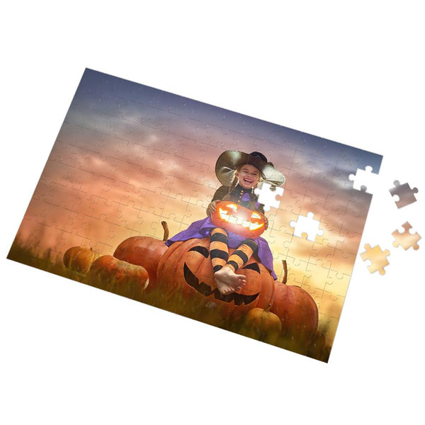Halloween Gifts Custom Photo Puzzle Create your own Puzzle 35-1000 Pieces Little Wizard