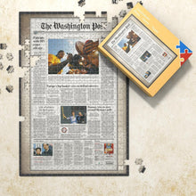 Newspapers Birthday Jigsaw Puzzle Memory Day Puzzle for Anniversary - New York Times Washington Post