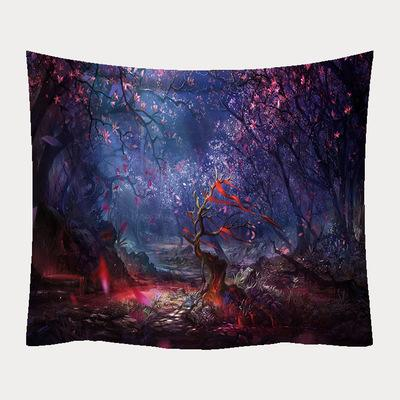Forest Jungle Scenery Tapestry Ornaments Hanging Fabric