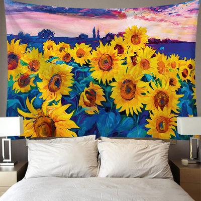 Sunflower Plant Landscape Series Tapestry Wall Hanging