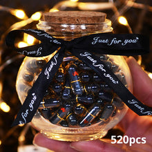 520pcs Black Lovely Mini Pill Shaped Message Capsule Letter In A Bottole With Box