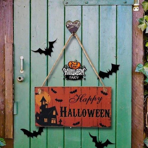 Halloween Party Decor Gifts Hanging Day Wall Plaque for Halloween