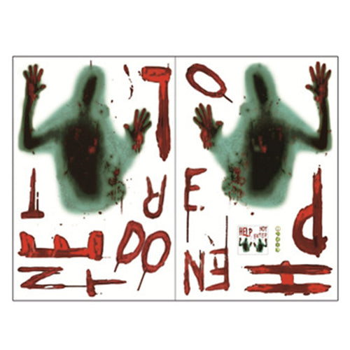 Halloween Party Supplies Decor  Holiday Decoration Wall Stickers Blood Zombie