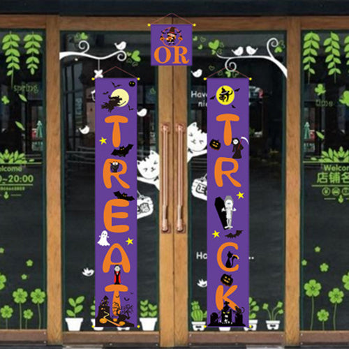 Halloween Banner Set,Halloween Decorations Outdoor Signs for Home Garden Front Door Hanging Decor
