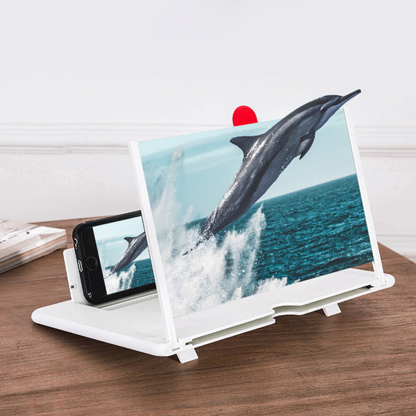 Screen Magnifier for Cell Phone, 3D HD Magnifying Projector Screen Enlarger for Movies, Videos and Gaming Acrylic Material