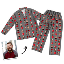 Custom Photo Long Sleeve Pajamas Sleepwear Nightwear - Kiss