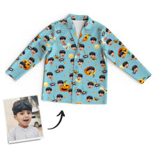 Custom Halloween Photo Long Sleeve Pajamas Personalized Pajamas
