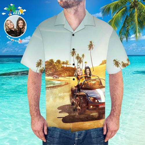Custom Seaside Shirt Men's Hawaiian Shirt