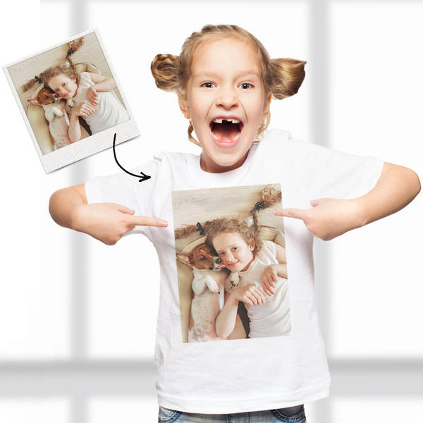 Custom Photo Kid T-Shirt,2-6 years old Cotton T-Shirt Personalized Shirt