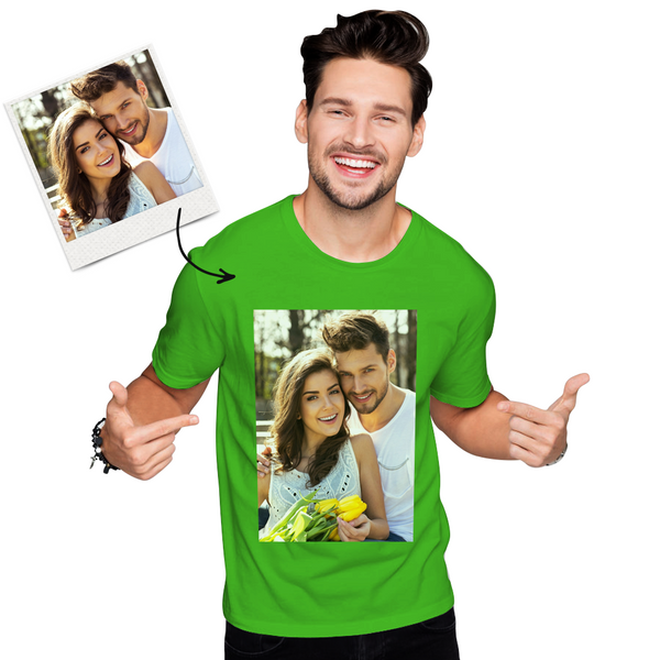 Custom Photo Men's Cotton T-shirt Short Sleeve shirt