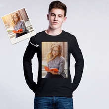Custom Photo Men's Long Sleeve Shirt Cotton Shirt
