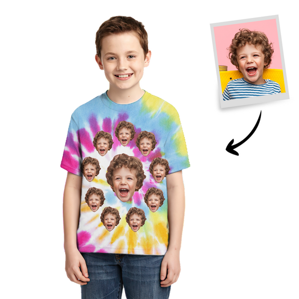 Tie-dye T-shirt Photo T-shirt Fashion Style Children's Gifts