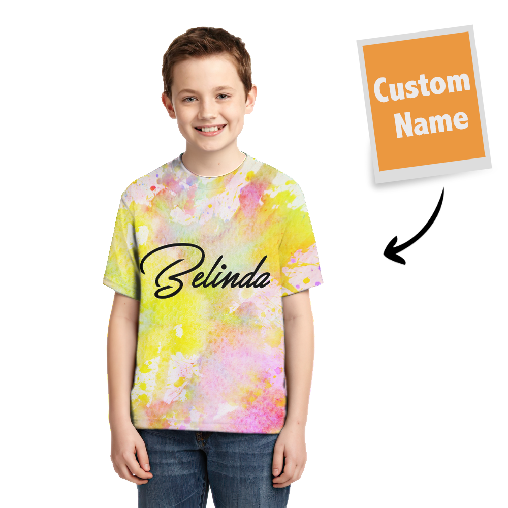 Tie-dye T-shirt Name T-shirt Fashion Style Children Gifts