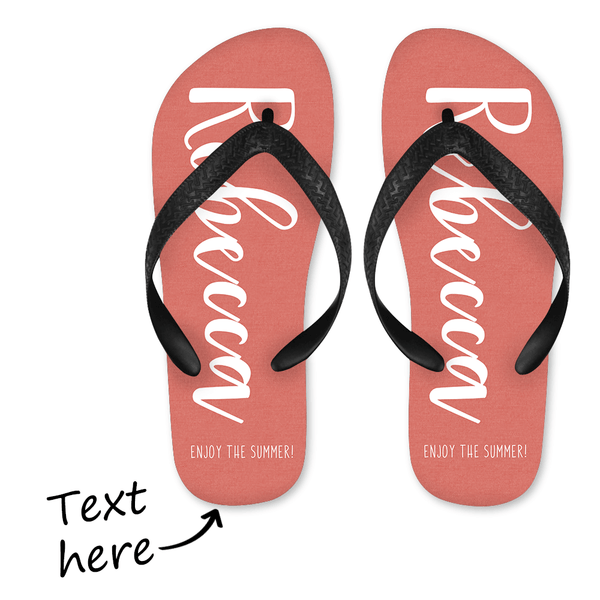 Custom Text Flip Flop Unisex for Men and Women