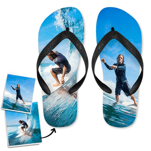 Personalized Flip Flop Two Pictures Gift for Summer