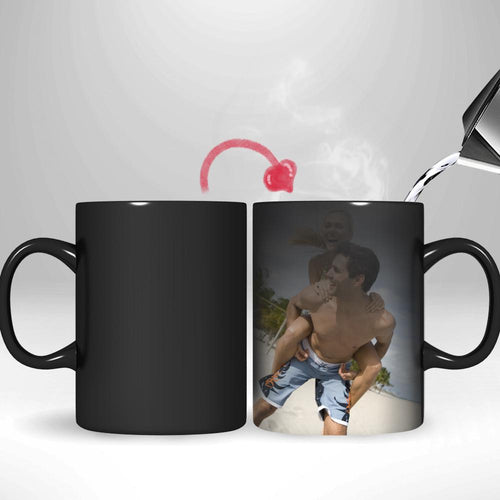 Personalized Custom Photo Mugs - Magic Heat Color Changing Coffee Mugs
